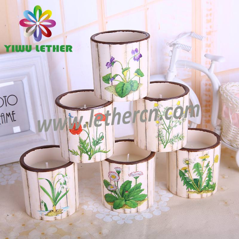 Colorful Handmade Home Aromatherapy Scented Candles in Ceramic Jars with 6PCS in a Gift Box