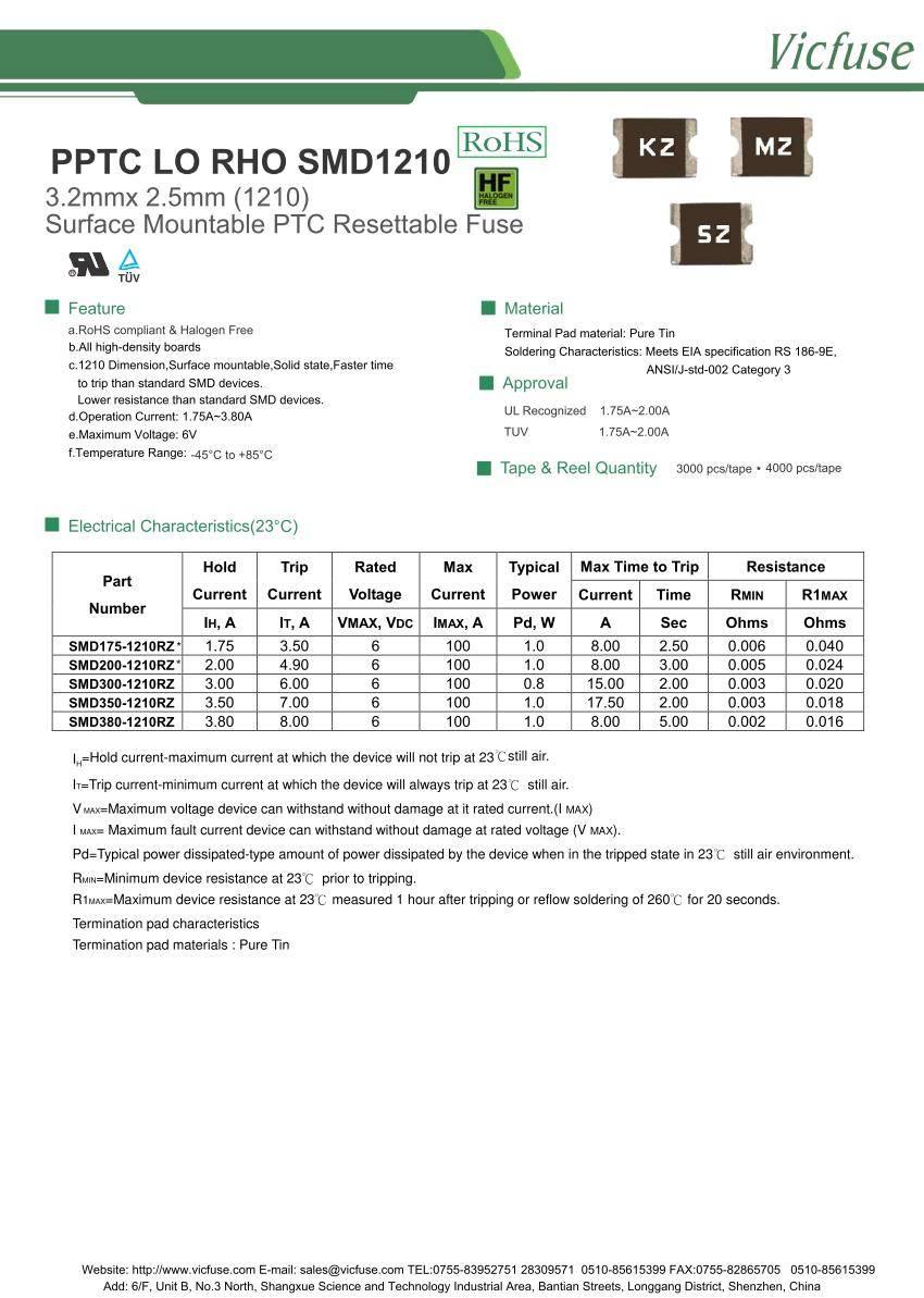 PPTC LO RHO SMD1210