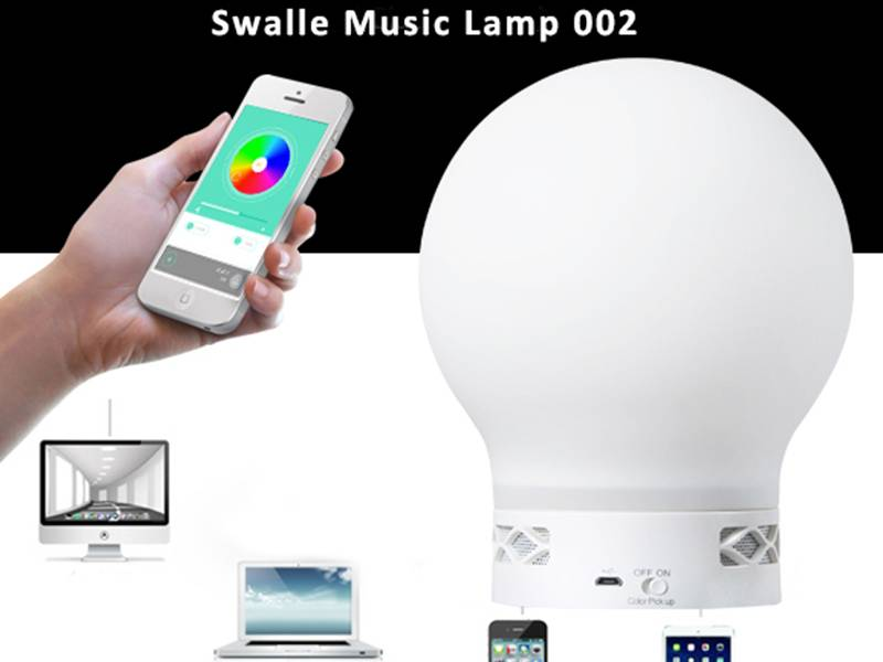 Led Speaker Bluetooth Connected App Controlled Led Lighting Colors Changing LED Speaker Lamp