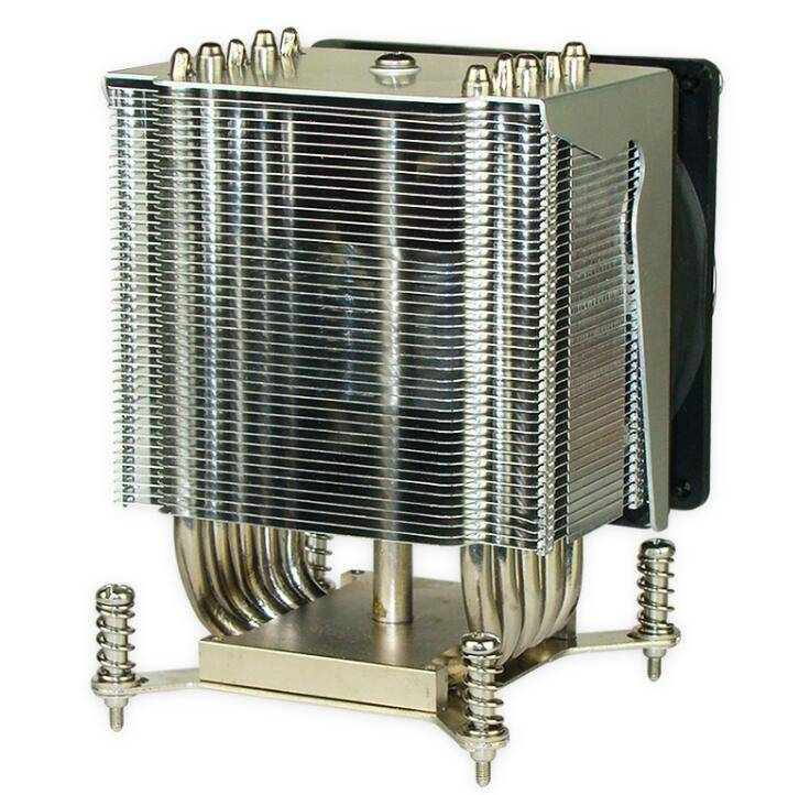125mm Tower-shape nickel plating 3U heat sink with mute fan