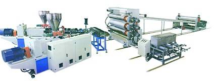 PE\PVC\PP\ABS Plastic Sheet \Board Production Line