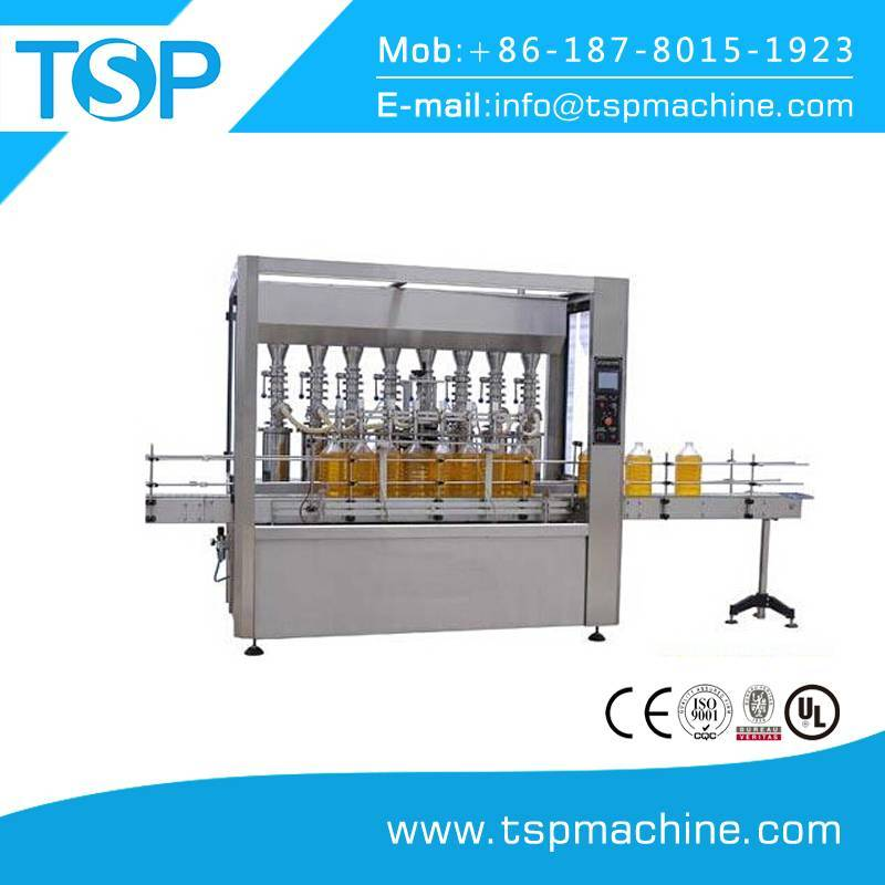 Small linear type glass bottle olive oil filling machine 1000bph