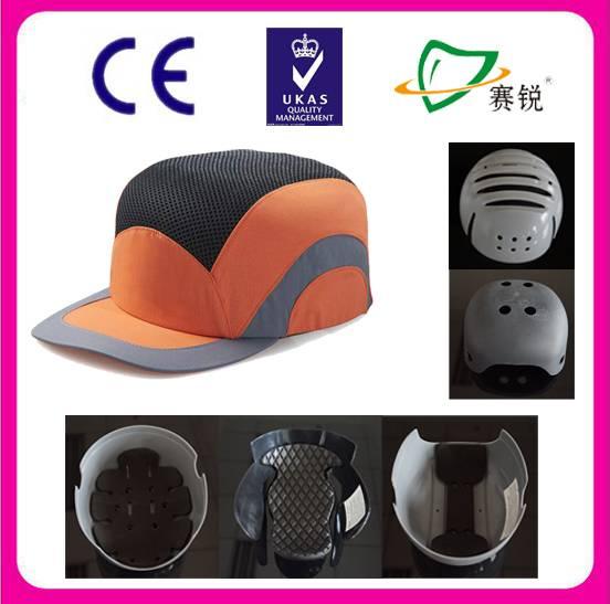 orange safety mesh baseball helmet bump cap