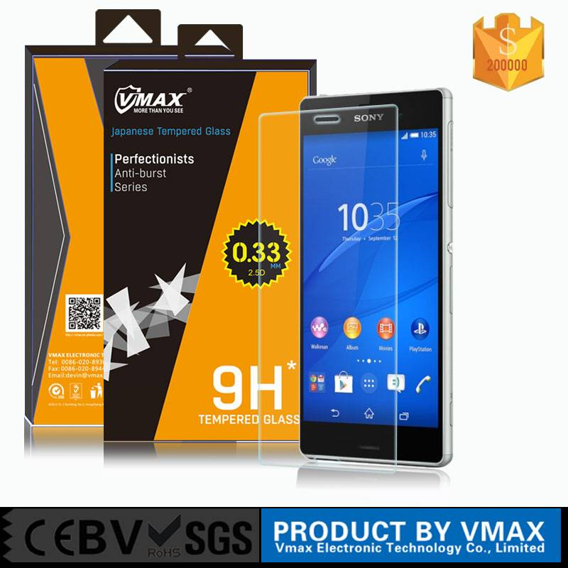 Oleophobic Coating 0.3/0.2mm Japanese Asahi Tempered Glass Screen Protector for SONY Xperia Z5