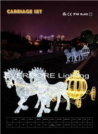 motif lighting carriage set