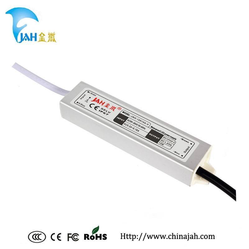 High quality! 15W/12V 1.25A LED waterproof power supply