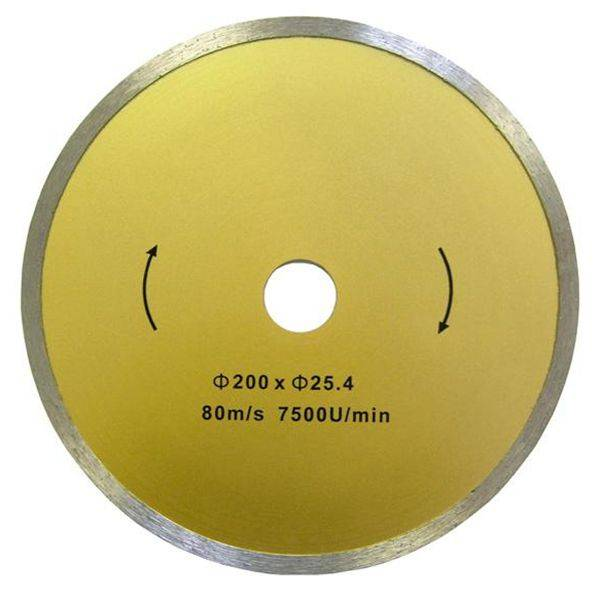 Electroplated Diamond Circular Saw Blades with Wear Bars for Porcelain