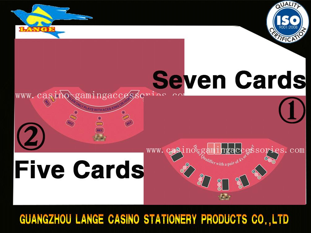 Custom Design Black Jack Table cloth Baccarat Table Felt Casino layout