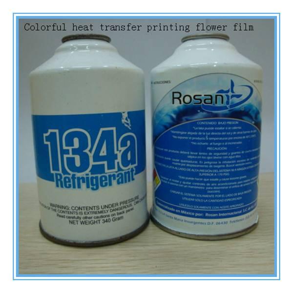 Heat transfer film for plastic product