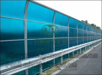 Professional manufacturer customized solid polycarbonate sheet for sound insulation noise barrier