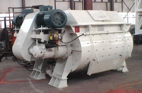 Hot Sale Twin Shaft Concrete Mixer With Pump