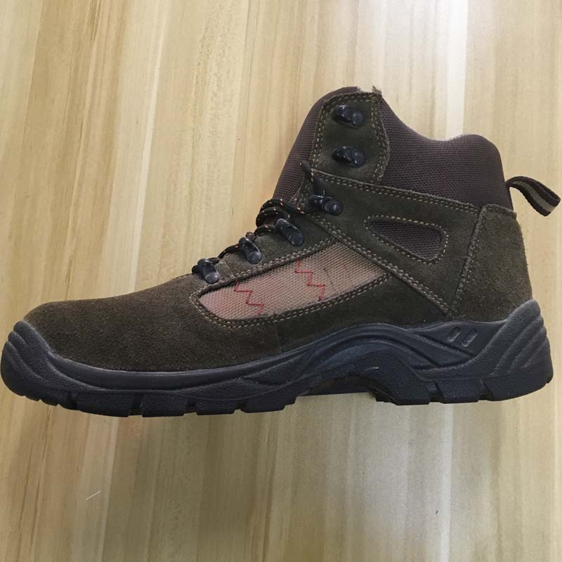 Chinese factory genuine leather PU sole safety shoes