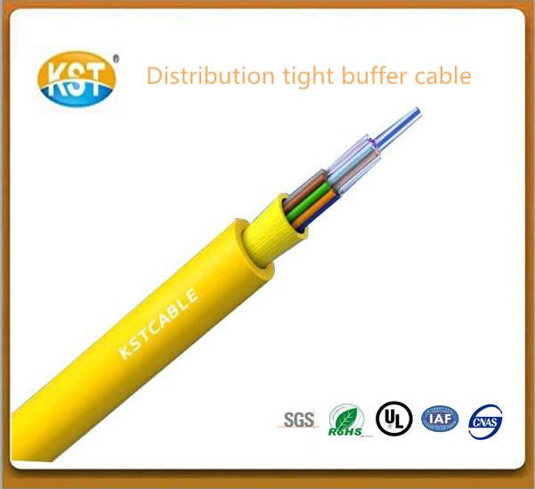 Cable wire communication cable/2-24 cores Distribution Tight Buffer Optical Cable (GJFJV)