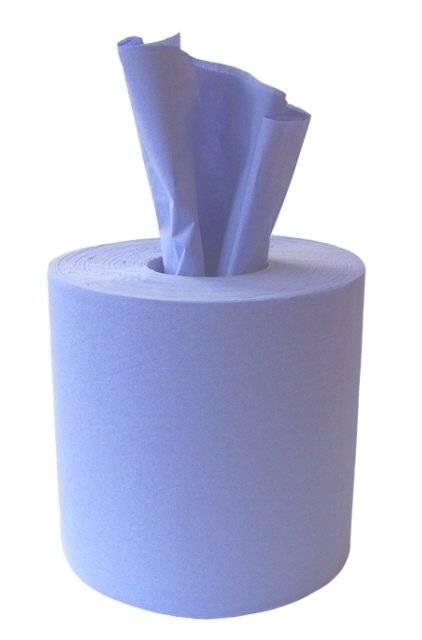 blue hand towel paper