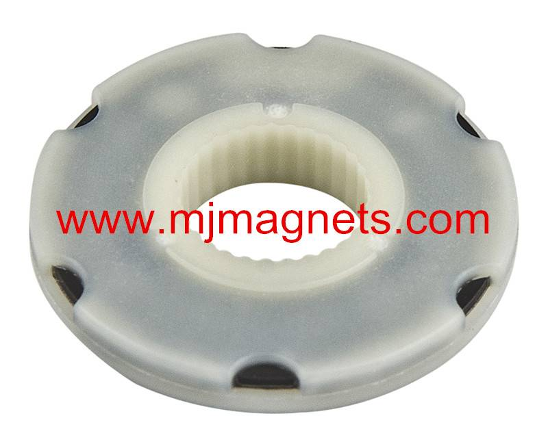 plastic injection molded magnet for sensor