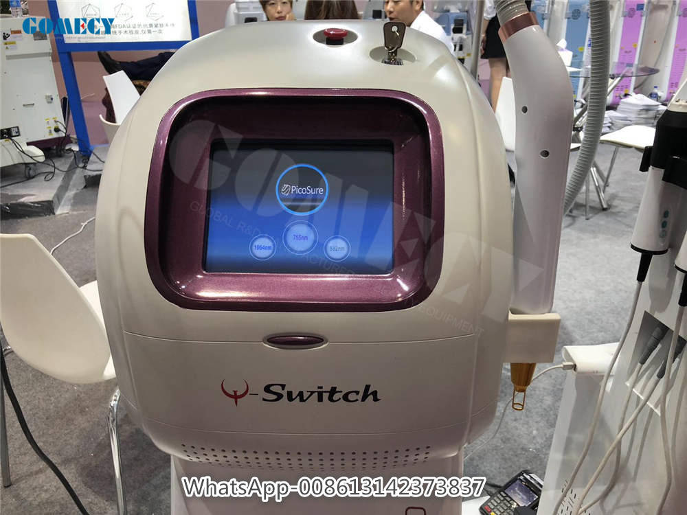 Picosecond laser 755nm tattoo removal 532nm 1064nm facial carbon peeling 1320nm picosure freckles