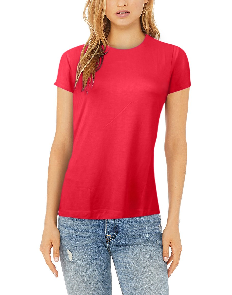 Women's Summer Viscose Short Sleeve O Neck Light Ultra Soft T-Shirt