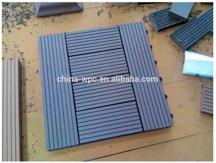 wpc waterproof outdoor easy installed interlock DIY tiles