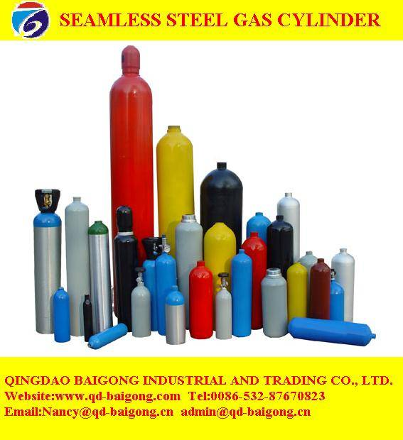 different size seamless steel gas cylinders