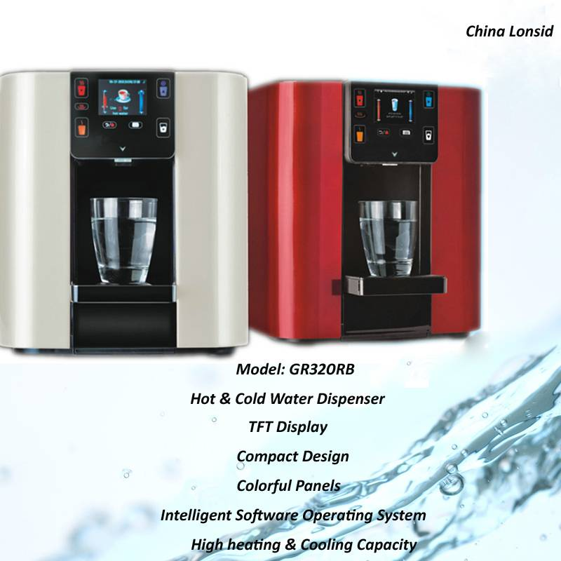 Hot and Cold Tabletop Installation P.O.U Mini UV Water Purifier, GR320RB