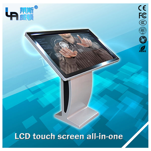 LASVD 42 inch Android R- type Vertical LCD Touch Screen Kiosk advertising player