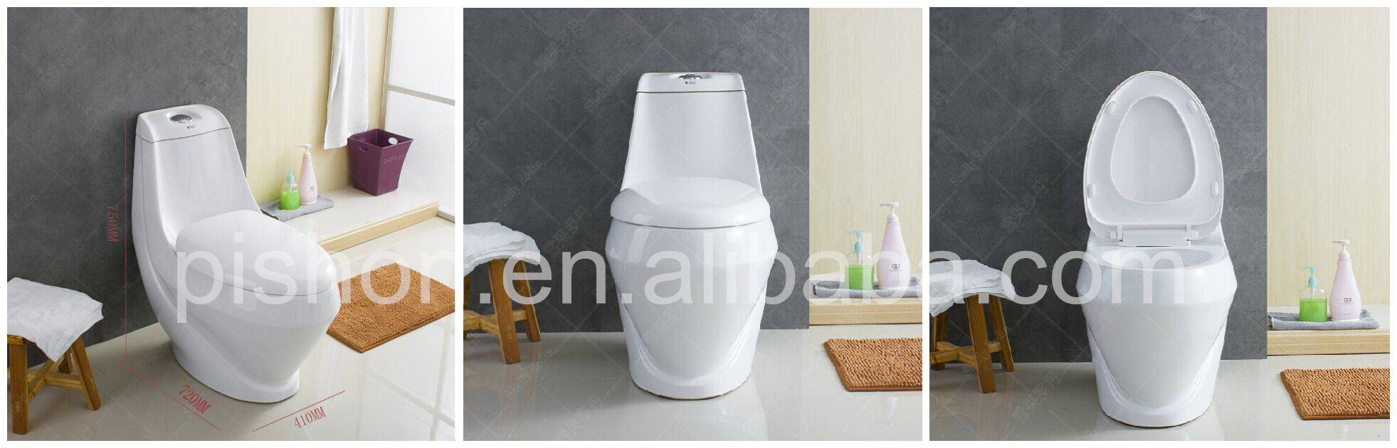Midle East style one piece toilet