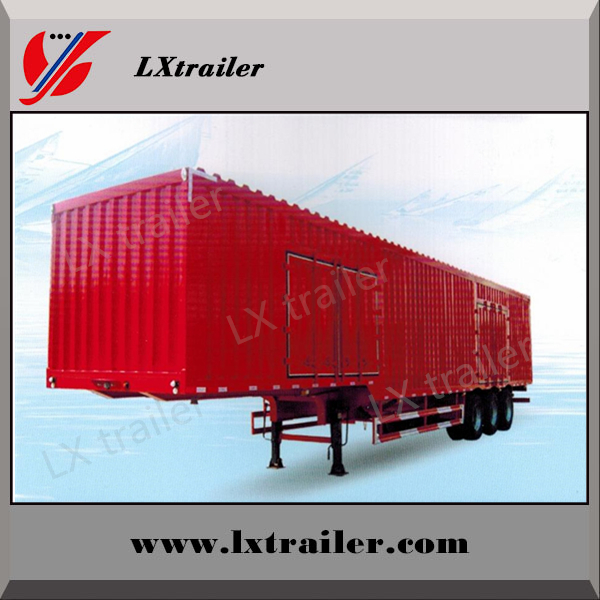 China Liangxiang double axle 40ft van cargo trailer van semi trailer