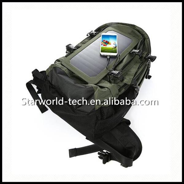 Quality Products Cycling Solar Energy Backpack Smart Solar Backpack with Portable Battery Charger