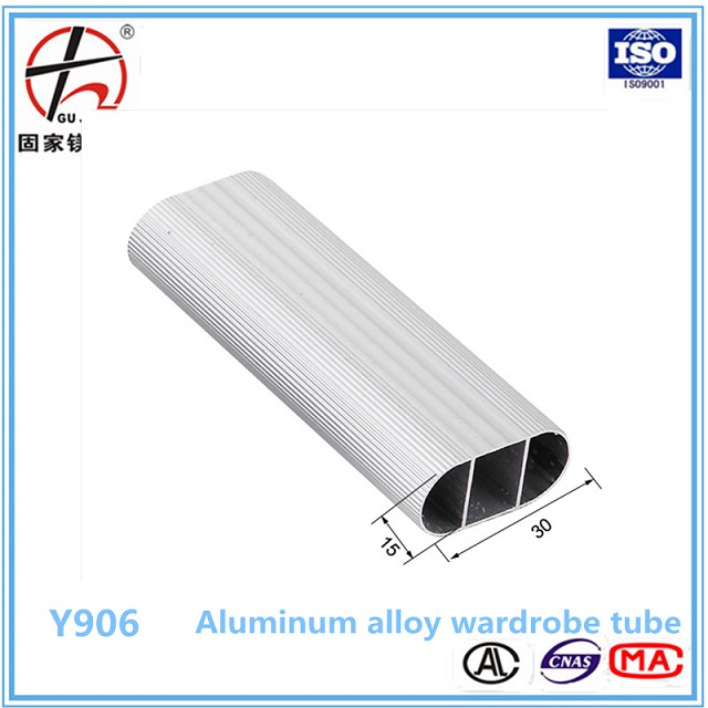 Aluminium profile wardrobe hanging oval tubes/pipe hanger/wardrobe rail fittings