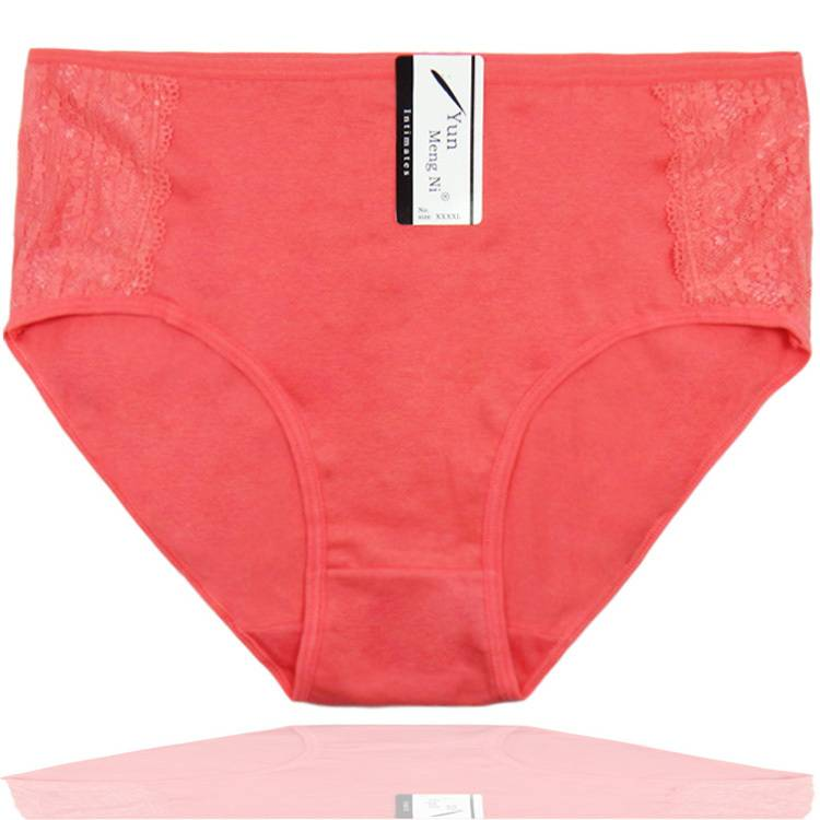 2015 New mama size brief high waist women cotton underwear lady panties lady brief stretch knickers