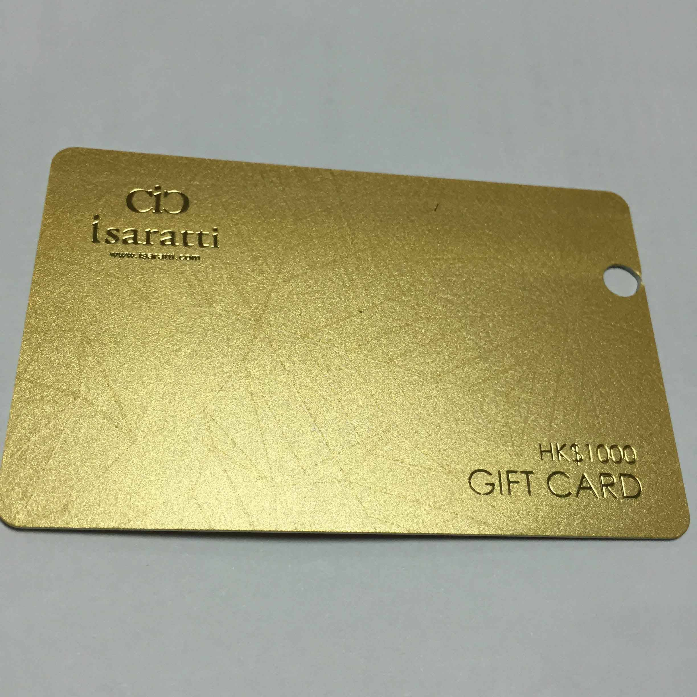 Gold stampping concave numbering printing card