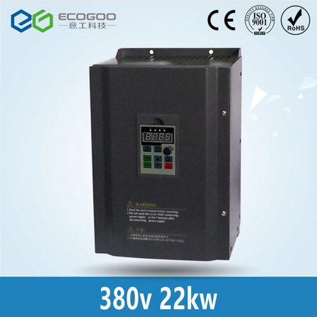 22KW 30HP 400HZ VFD Inverter Frequency converter triple phase input 3phase 380v output 45A for 25HP