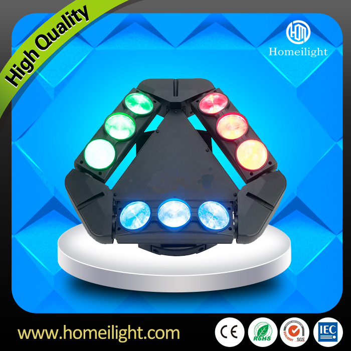 9 Eyes 10W RGBW 4 in1 led spider beam moving head light