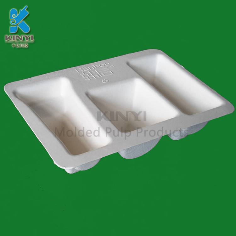 Environmental biodegradable packaging tray for cosmetic packaging, packaging box,