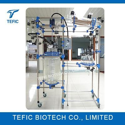 100L 150L 200L Cylindrical Jacketed Pharmaceutical Glass Reactors Manufacturers