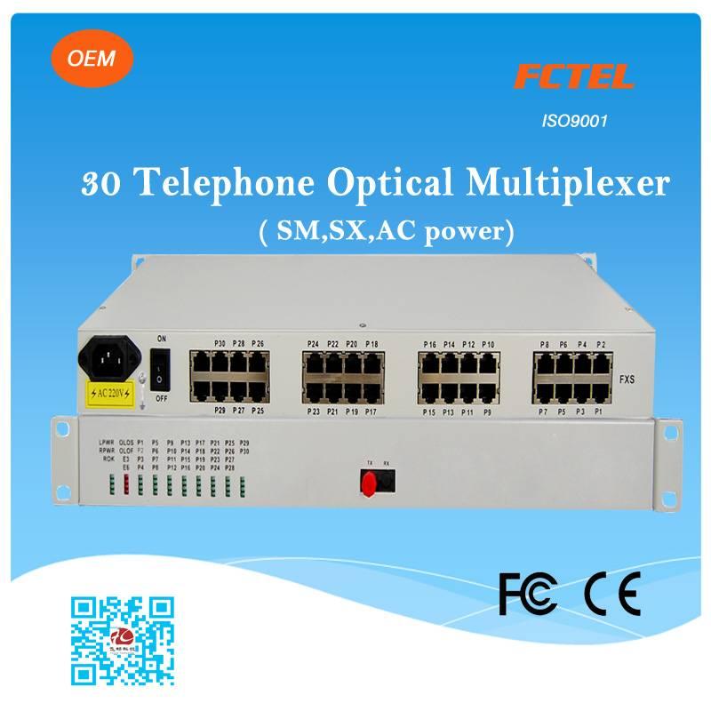fiber optical 30 channel pcm multiplexer