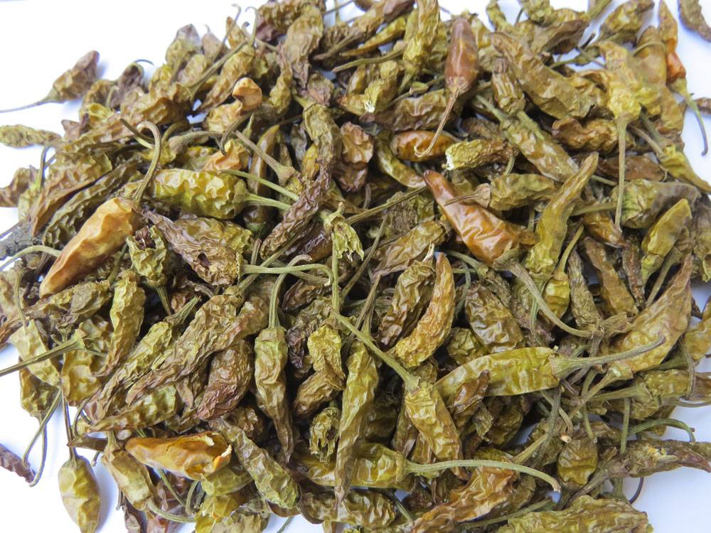 Dried Green CHili