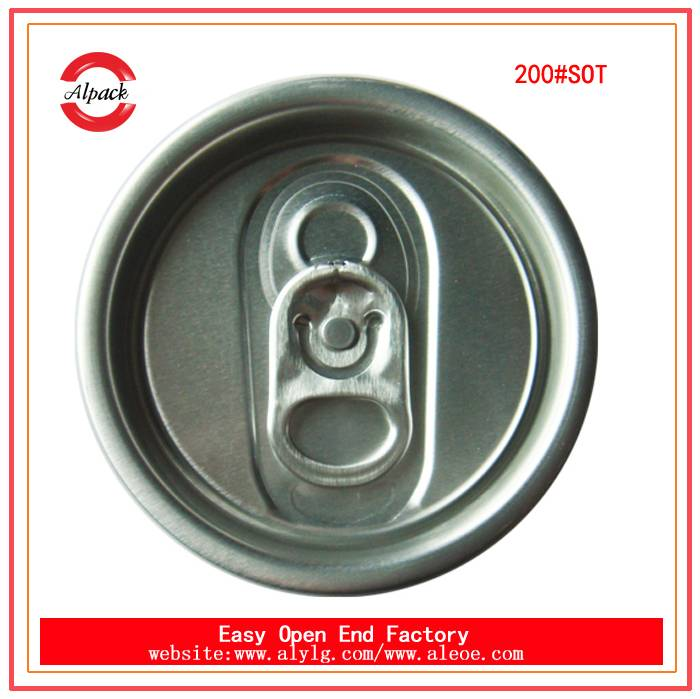 200#SOT beverage easy open end for can juice packing