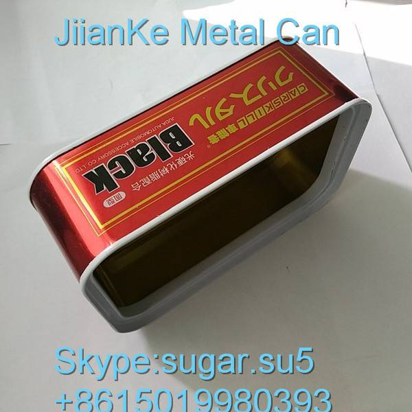 Square metal cans for car care