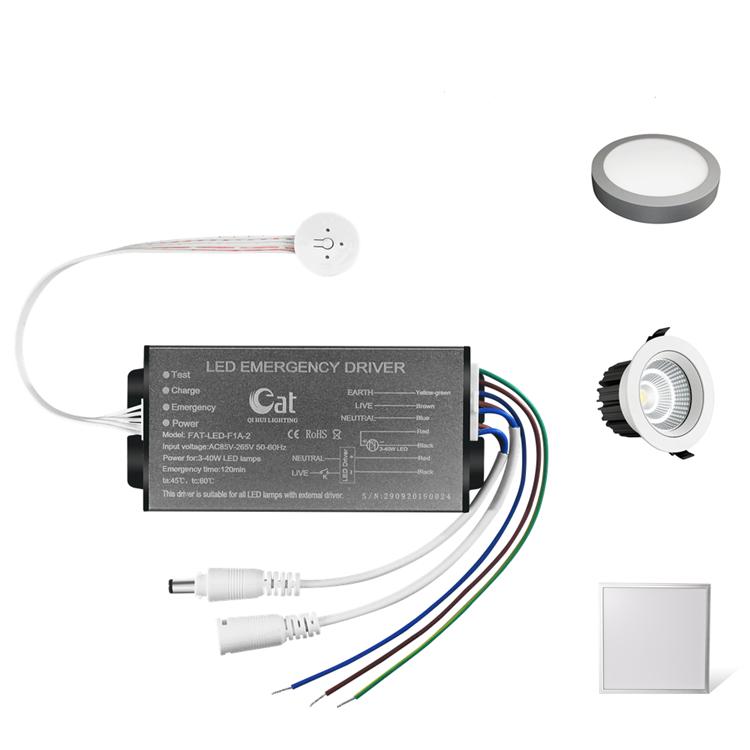 3-60W Emergency LED Driver FAT-LED-F1A-2