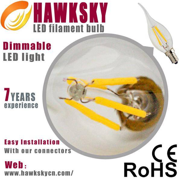 CE&RoHS approved 360 degree 3w led filament light