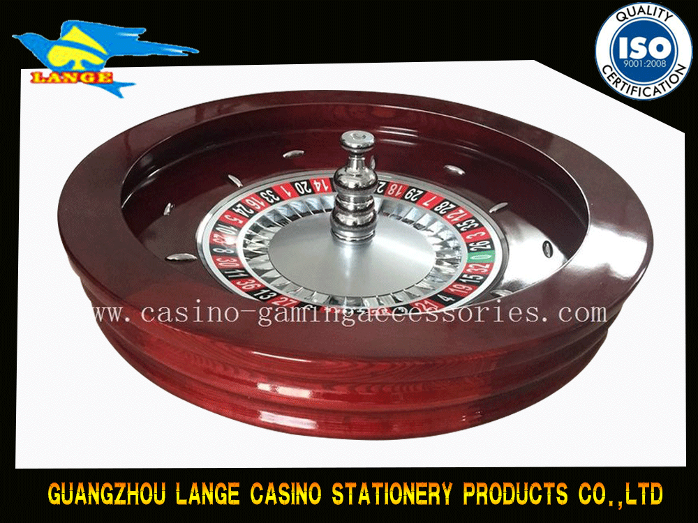 80cm Red Solid Wood Roulette Wheels , Custom Design Table Wheels Available