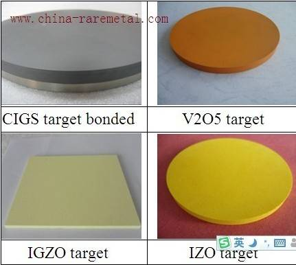 sputtering targets for flat panel display