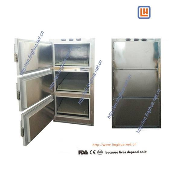 Funeral Equipment 3 body Mortuary Freezer for Corpse Cooling Storage in morgue