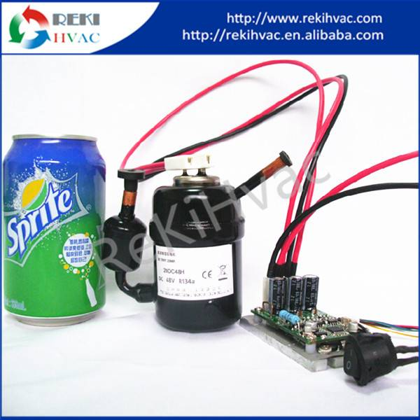 Mini R134A Compressor 24V DC Refrigerator Compressor RL27D24C