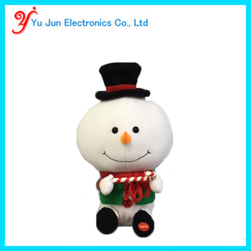 Animated Snowman Plush Toy Big Head Frosty Christmas gift