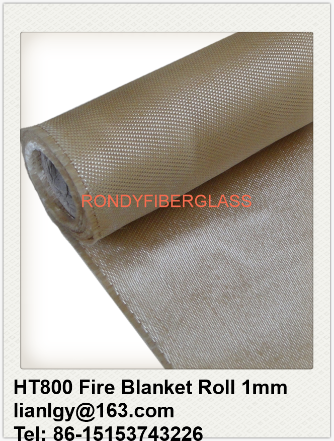 fiberglass fabric 840g/m2 HT800 fire blanket roll