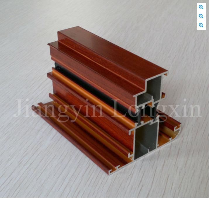 wooden printed aluminium profile for sliding windows