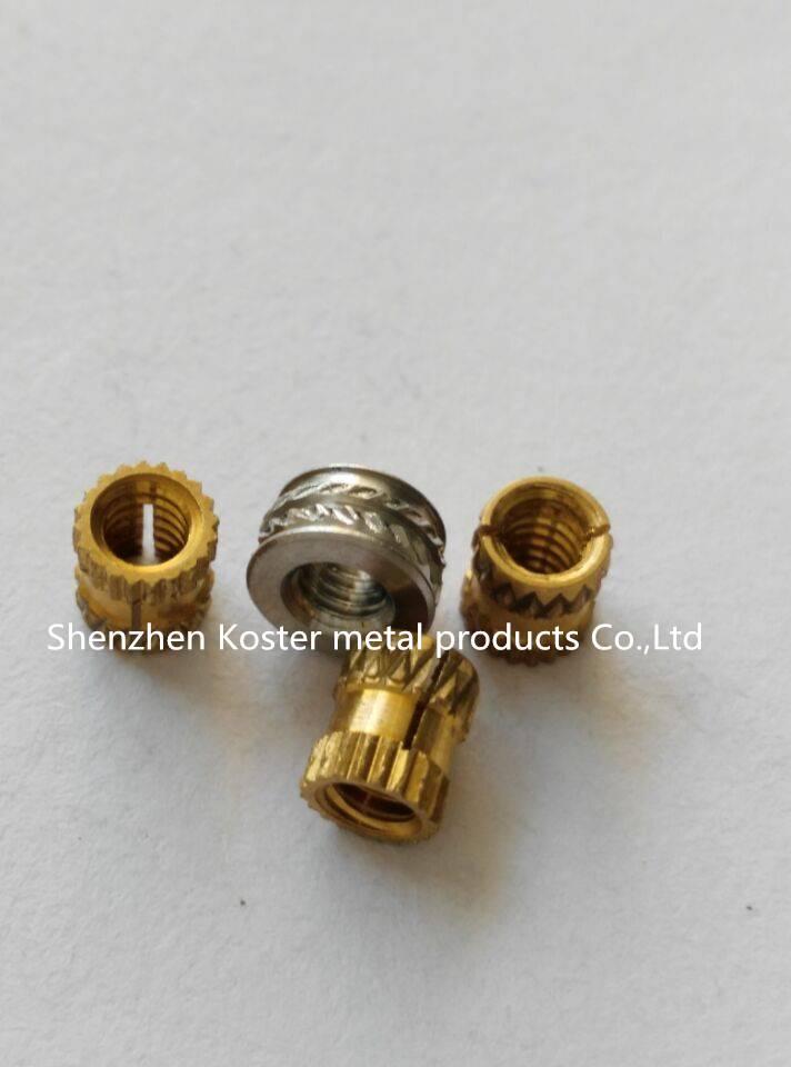 Brass Molded in Threaded Insert for Plastic Iub, Iuc