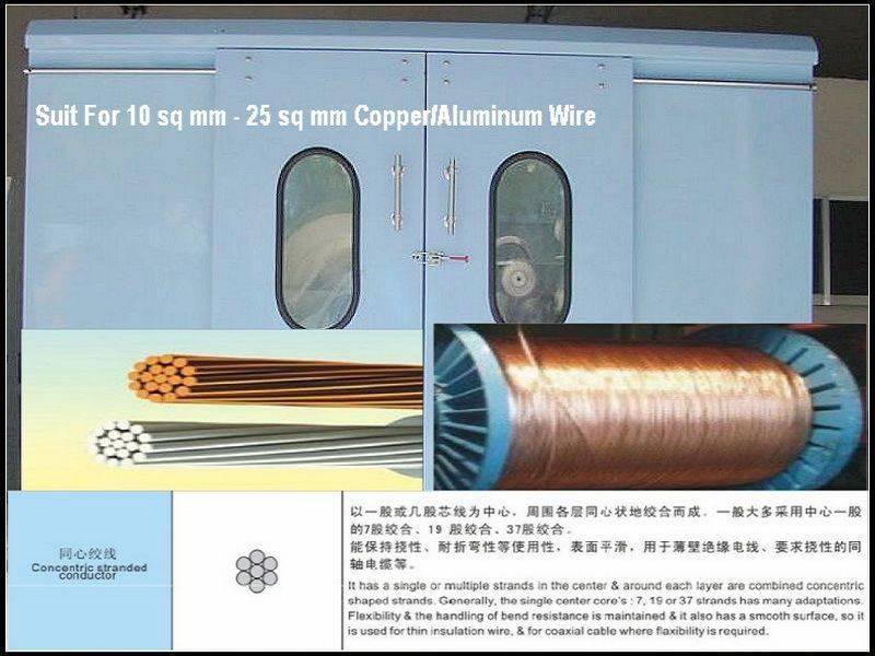 PLC High speed double twist 800P copper wire stranding machine